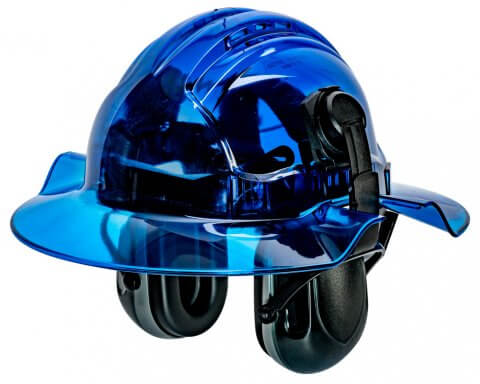 CLEARVIEW BROADBRIM BLUE-with EARMUFFS-HERO